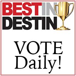 VIP Best In Destin VOTE Daily 250×250 Tile