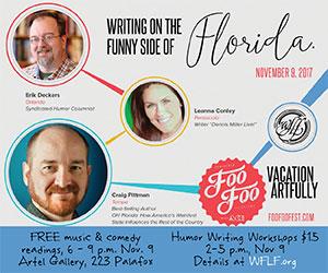 Writing the Funny Side of Florida 300×250 West Florida Literary Federation Nov 2017