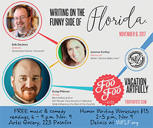 Writing the Funny Side of Florida 300×250 West Florida Literary Federation Nov 2017