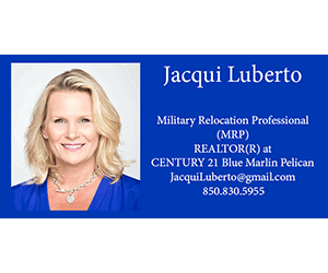 Jacqui Luberto 300×250 business card C21 Blue Marlin Pelican