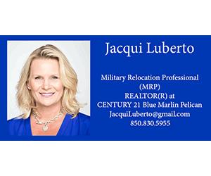 Jacqui Luberto 300×250 business card C21 Blue Marlin Pelican