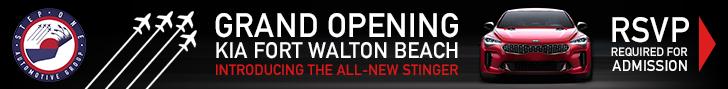 KIA Fort Walton Grand Opening Stinger 728×90