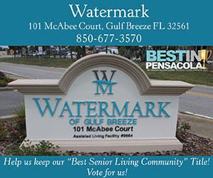 Watermark of Gulf Breeze best in Pensacola 2018